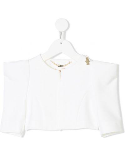 Пиджак короткий белый Elisabetta Franchi La Mia Bambina