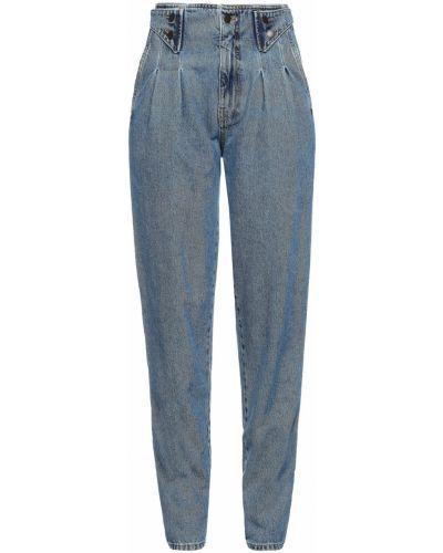 Niebieskie włoskie mom jeans Retrofete