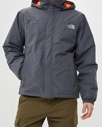 Утепленная куртка теплая серая The North Face
