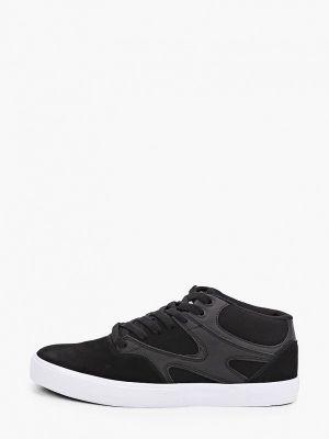 Кожаные высокие кеды - черные Dc Shoes