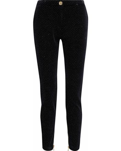 Черные брюки с заплатками Balmain