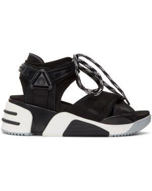 Спортивные сандалии черные на каблуке Marc Jacobs