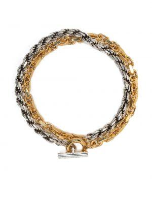 Złota bransoletka ze złota pozłacana Bottega Veneta