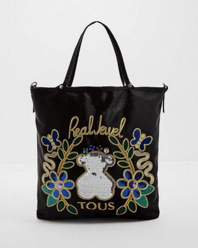 Черная сумка с ручками Tous