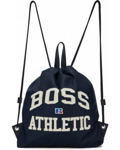 Plecak skórzany - biały Boss