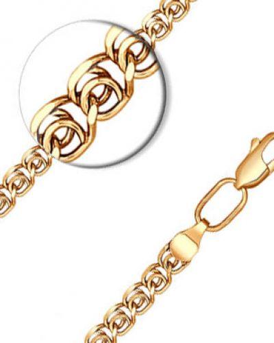 Серебряный браслет позолоченный с подвесками из золота Sokolov