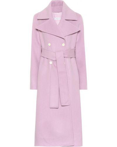 Малиновое шерстяное пальто Rejina Pyo