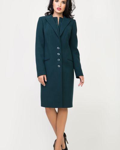 Однобортное зеленое пальто с карманами Sergio Cotti