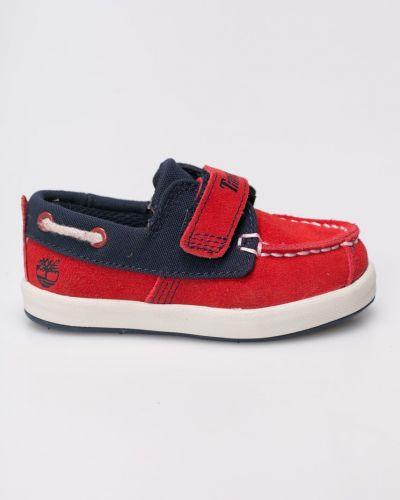 Красные туфли текстильные Timberland