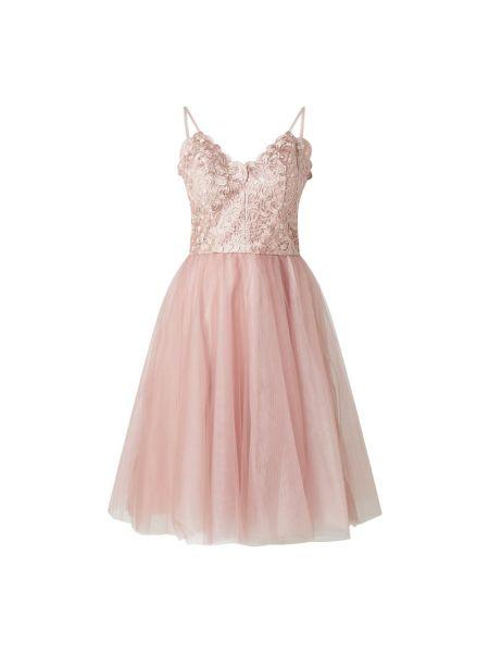 Sukienka koktajlowa tiulowa - różowa Chi Chi London