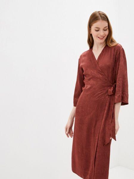 Бордовое платье Sisley