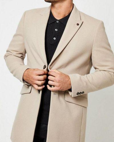 Бежевое пальто осеннее Burton Menswear London