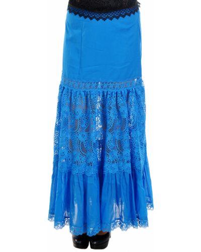 Хлопковая юбка - синяя Charo Ruiz