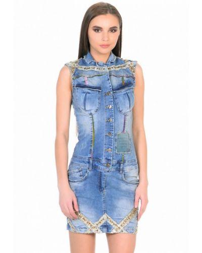Джинсовое платье осеннее турецкий D'she
