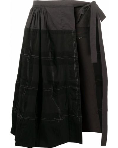 Шерстяная черная юбка Ziggy Chen