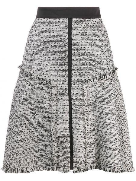 Czarna spódnica z wysokim stanem z akrylu Karl Lagerfeld
