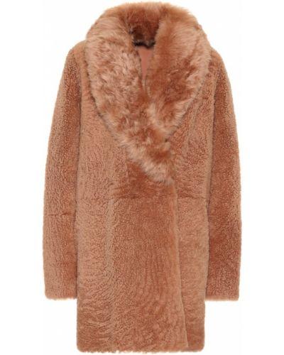 Пышное розовое пальто двустороннее Yves Salomon Meteo