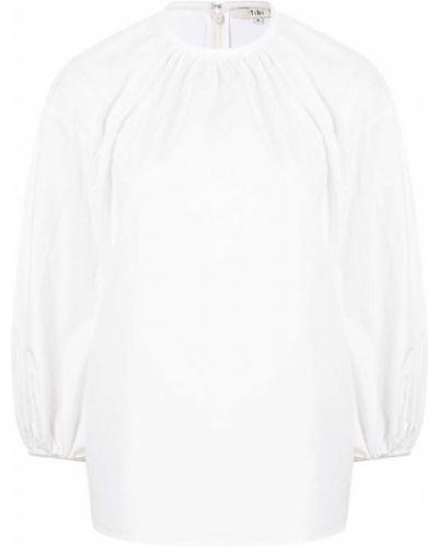 Белая блузка с вырезом Tibi