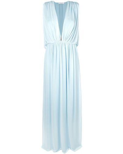 Шелковое платье - синее Vionnet
