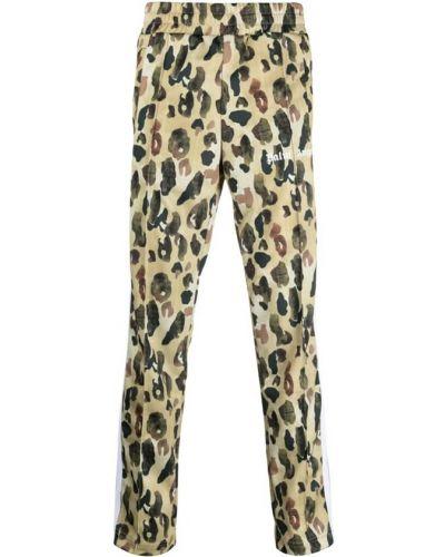 Spodnie z printem - brązowe Palm Angels