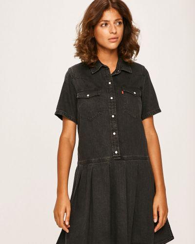 Расклешенное черное платье мини с вырезом Levi's®