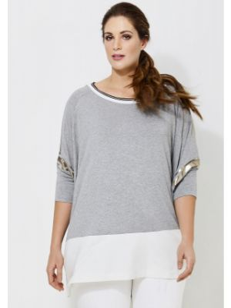 Футбольная серая футболка из вискозы с круглым вырезом Mat Fashion