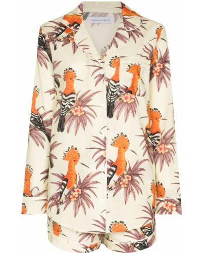Piżama z długimi rękawami - pomarańczowa Desmond & Dempsey
