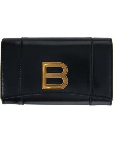 Czarny portfel na monety z gniazdem Balenciaga