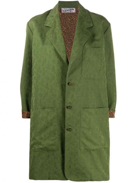 Шелковое пальто на пуговицах с лацканами с карманами Jean Paul Gaultier Pre-owned