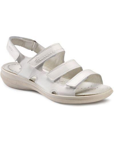 Сандалии на каблуке белый Ecco