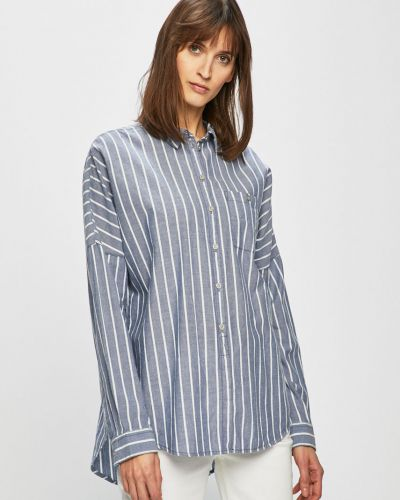 Блузка с длинным рукавом в полоску оверсайз Review
