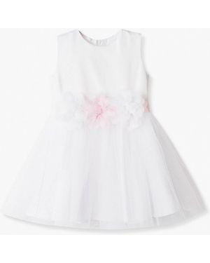 Платье на торжество белое лапушка