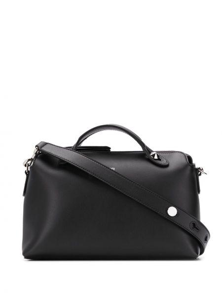 Кожаная сумка - черная Fendi