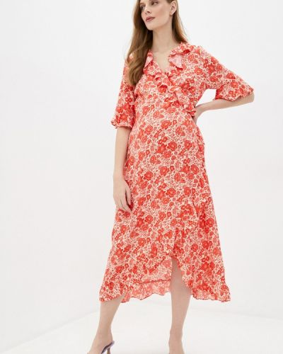 Красное платье для беременных с запахом Topshop Maternity