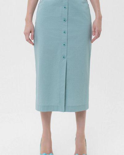 Прямая бирюзовая юбка карандаш Lo