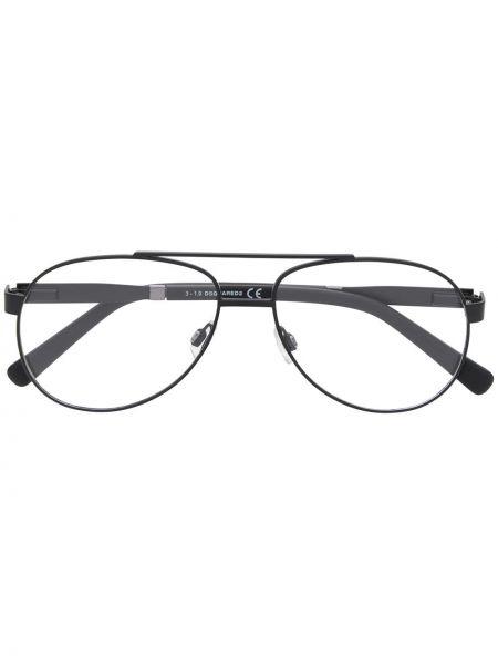 Прямые черные очки авиаторы квадратные металлические Dsquared2 Eyewear