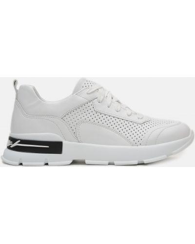 Кожаные кроссовки - белые Kento