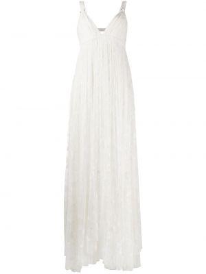 Платье из фатина - белое Maria Lucia Hohan