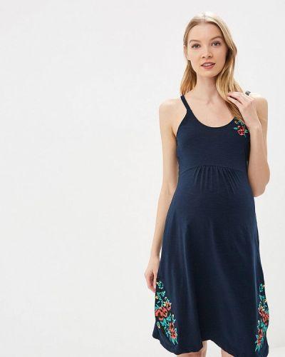 Платье для беременных весеннее синее Mama.licious