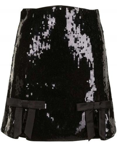 С завышенной талией прямая черная юбка-шорты Alice Mccall