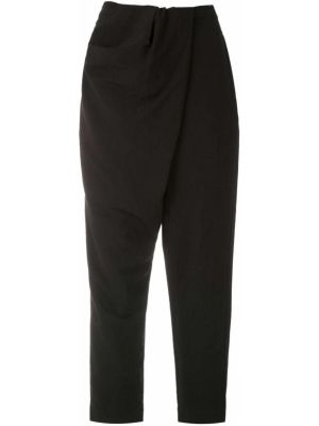 Укороченные брюки с завышенной талией с запахом Uma   Raquel Davidowicz