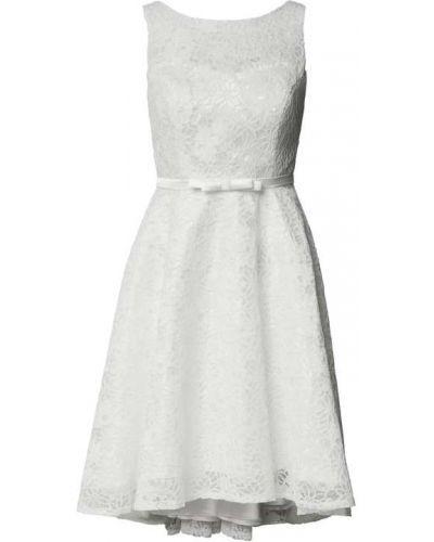 Biała sukienka koronkowa Troyden Collection