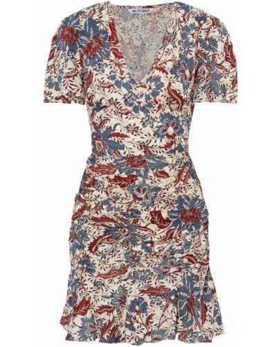 Beżowa sukienka mini z printem Walter Baker