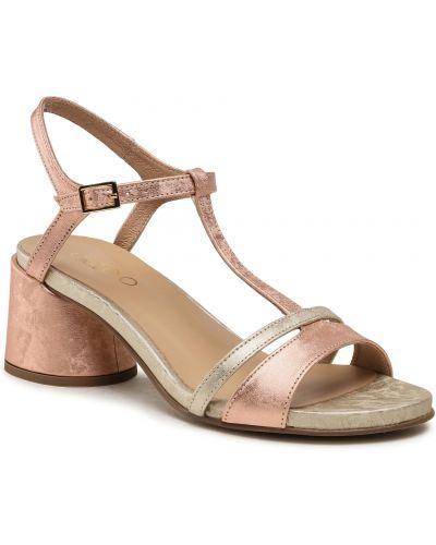 Różowe złote sandały Edeo