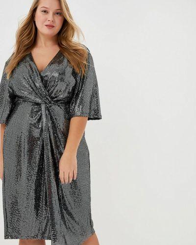 Серебряное вечернее платье Evans