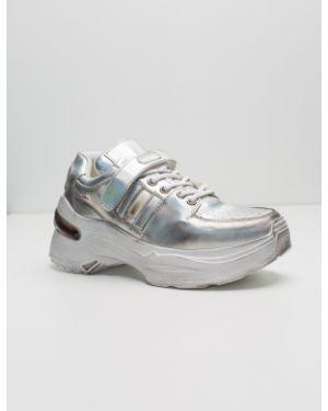 Силиконовые серебряные кроссовки Sidestep