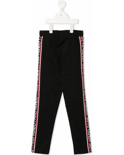 Czarne legginsy z wiskozy Kenzo Kids