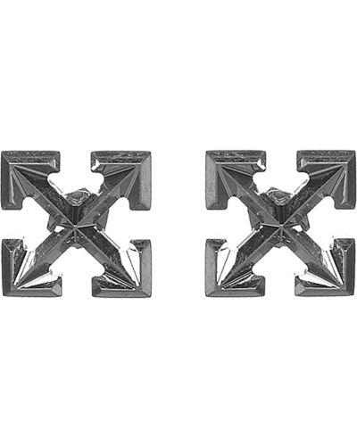 Kolczyki sztyfty - białe Off-white