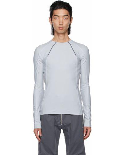 Biały t-shirt z nylonu z długimi rękawami Gmbh