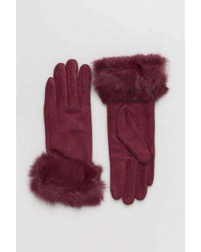 Перчатки бордовый универсальный Answear